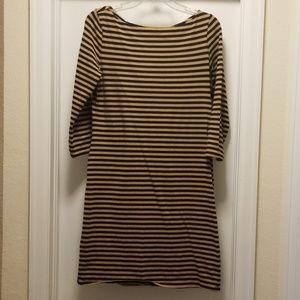 Xhiliration 3/4 sleeve stripe dress